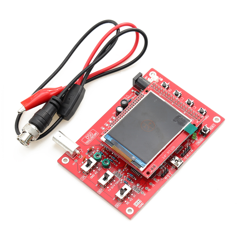 "Assembled DSO138 2.4/"" TFT Digital Oscilloscope probe Analog bandwidth 1Msps"