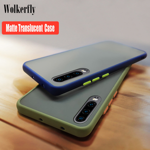 Anti-knock Armor Matte Case For Huawei nova 5t 6 se mate 20 p20 pro p30 lite honor 20s 9x v30 y6 y7 pro y9 2019 P smart Z Cover(China)