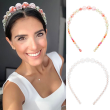 Oaoleer Hair Accessories Elegant Headbands for Women Big Beads Hairband Girls Party Trend Fashion Hoop Ins New Headwear