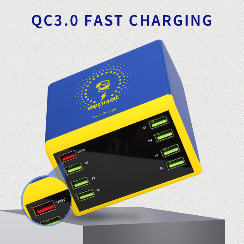 8 Charger 240V Support Mobile Fast Repair Wireless QC Display LCD With AC100V 0 Phone Tools For 10W Charger Digital 3 Port