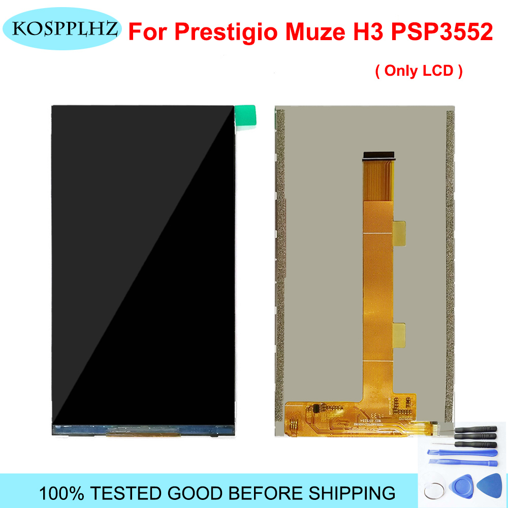 Original Quality LCD For Prestigio Muze H3 <font><b>PSP3552</b></font> <font><b>DUO</b></font> PSP 3552 <font><b>DUO</b></font> PSP3552DUO LCD Display Digitizer ( NO Touch Screen ) + Tools image