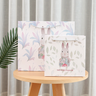 Storage Gift Bags Rabbit Gift bags Handles Office Folders Stationery Books Wedding Candy Bags Cookies Packaging Ssupplies