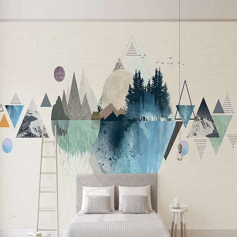Custom Large Mural 3D Wallpaper Abstract Urban Space Stereo Geometric Figures Bedroom Mural TV Back Wall Decor Deep 5D Embossed