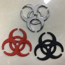 1pcs 3D Metal Car Sticker Body Tail emblem decal Badge for Umbrella Resident Evil Crisis Protection car sticker