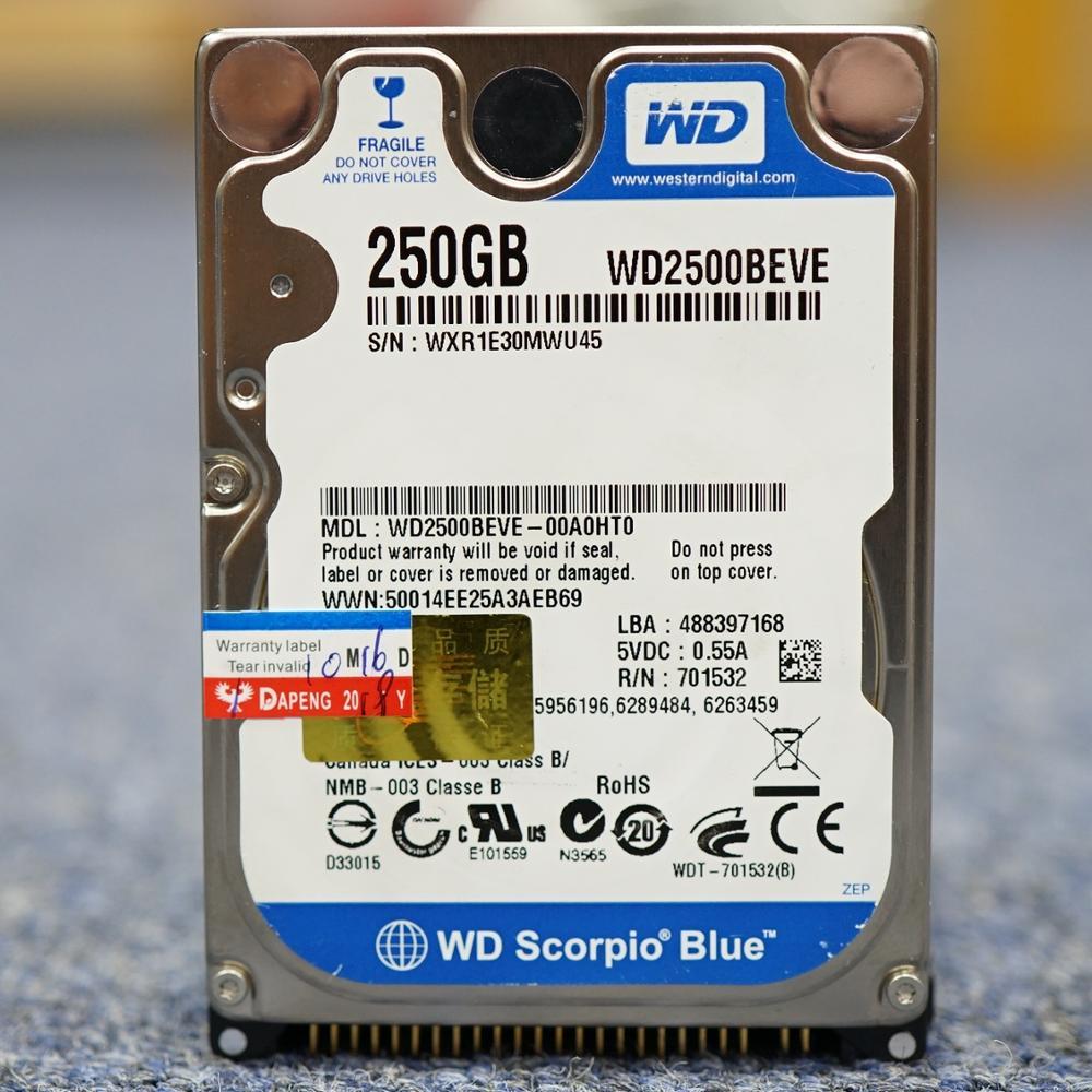 WD Laptop Notebook 80GB 120GB 160GB 250GB 320GB  80G 120G 160G 250G 320G 2.5 HDD 5400rpm 8M PAPA IDE  Internal Hard Drives Disk