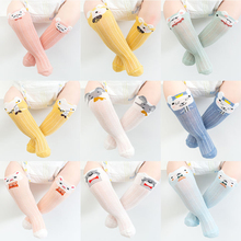 3 Pairs Cute Cartoon Baby Socks Soft Comfortable Cotton Socks Anti-slip Anti-mosquito Knee Socks Girl Boy Toddlers Socks 0-2Y