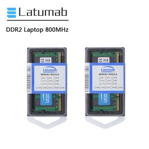 Latumab 4GB 8GB DDR2 800mhz PC2 6400 pamięć laptopa SoDimm pamięć Ram 200 pinów wysokiej jakości moduł notebooka SODIMM 1.8V RAM
