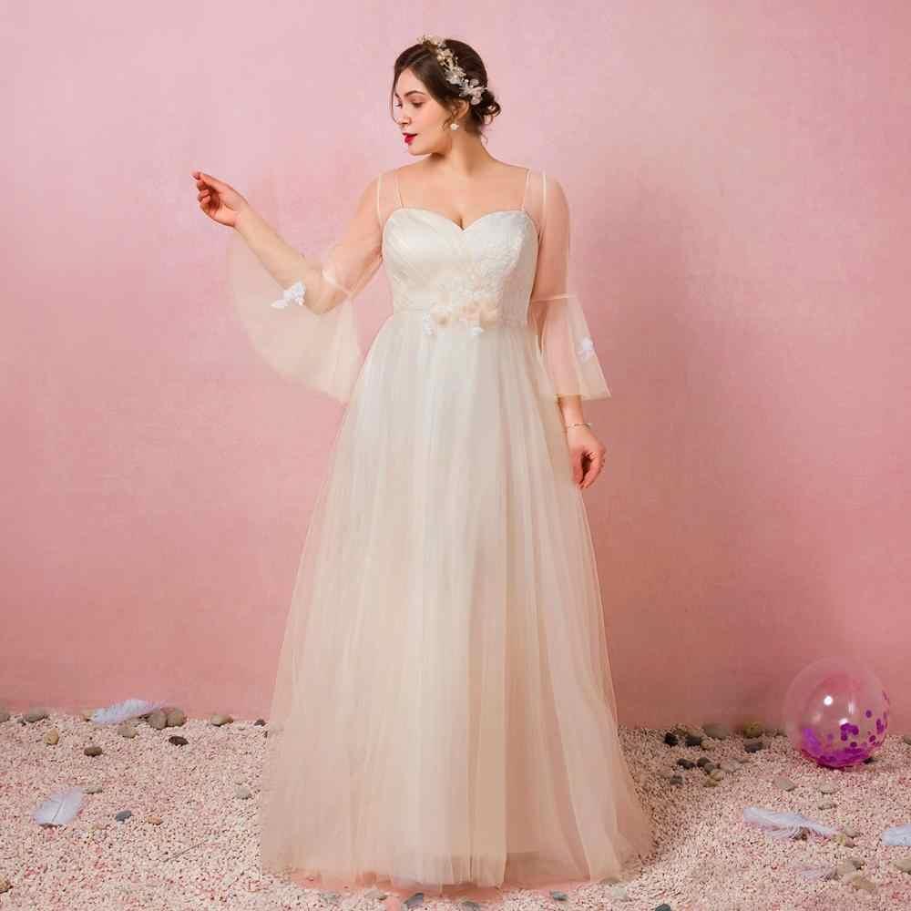 Línea A Escote Corazón Hasta El Suelo Vestidos De Tul Con Flores Vestido De Noche Vestidos Formales