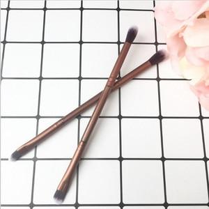 Double head cosmetics makeup brushes Eyelashes Blush Elegant Bleached mental Eye shadow brush Professional Styling Tools