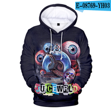 3D Hoodie Juice Wrld Sweatshirt Pullover Fashion Casual High-Quality Print Comfortable