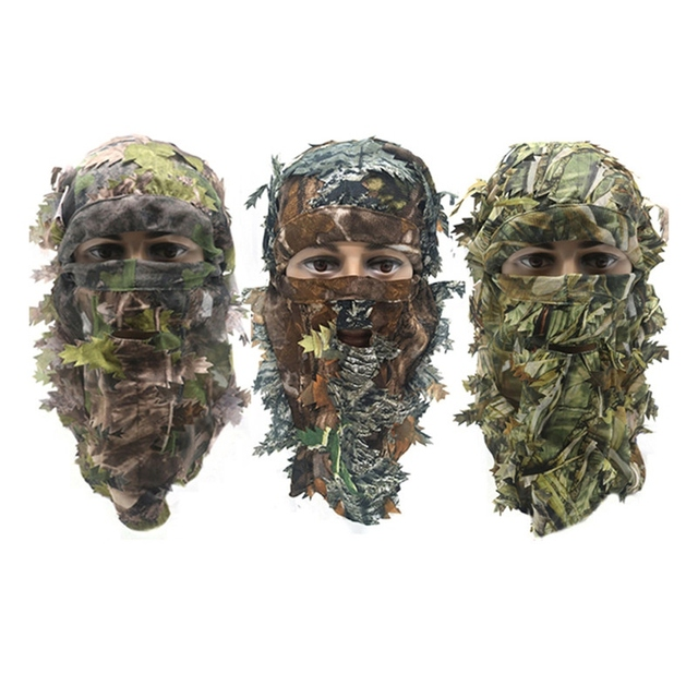 Outdoor Army Traning Camouflage Face Mask Hunting Hood Cap Head Net Eyehole Opening Scarf Hunting Ghillie Suits Accessories 1