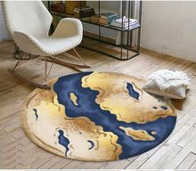 Abstract ocean continental carpet floor Floor Sticker Decor Self-adhesive Mural Wallpaper(China)