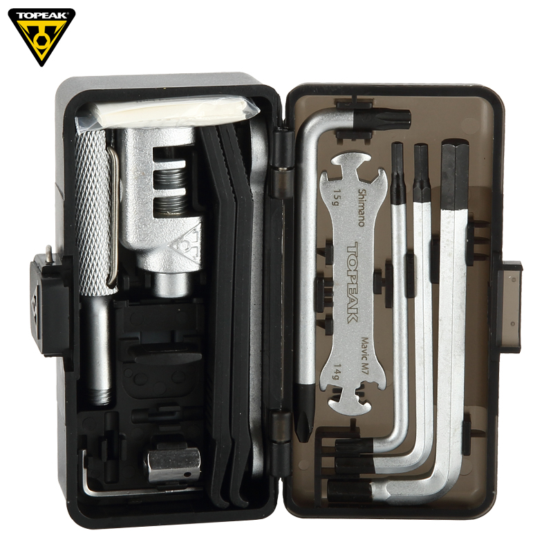 Topeak TT2543 SURVIVAL GEAR BOX Bicycle Multi Repairing Tool Set Cycling Portable Tool Road Bike Wrench Kits Bicicleta MTB Tools