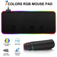 Newest High Quality Colorful Gaming Mouse Pad Computer RGB Large Mouse Pad with Backlight