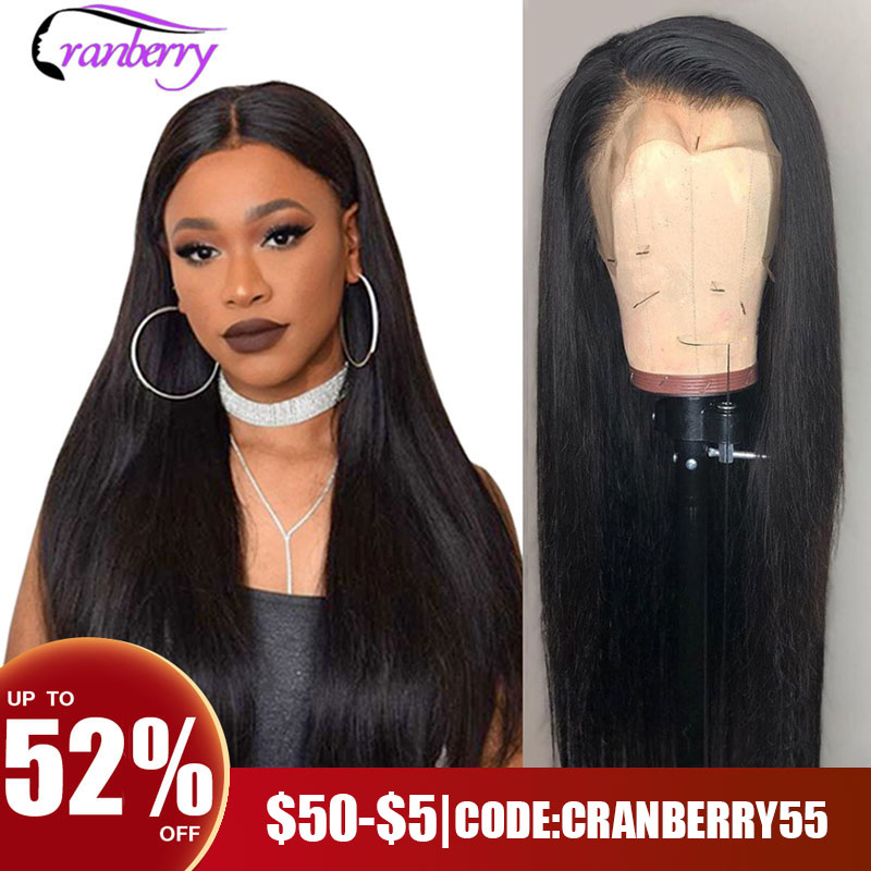 Cranberry Straight Lace Front Human Hair Wigs Pre Plucked Hairline 13X4 Or 13x6 Lace Front Wig Brazilian Wig Remy Hair Wigs