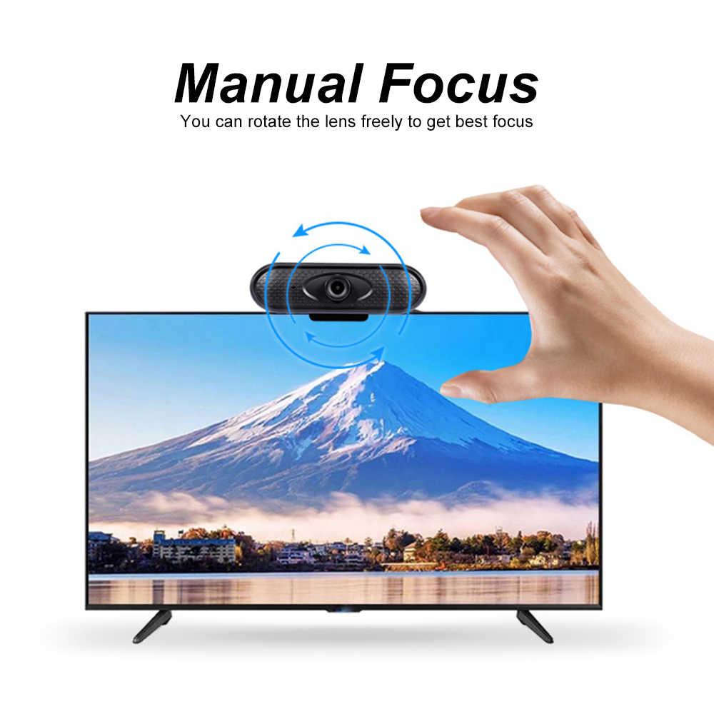 2020 новая HD 1080P Веб-камера мини компьютер ПК веб-камера с микрофоном вращающиеся камеры для прямого вещания видео вызова Conferenc