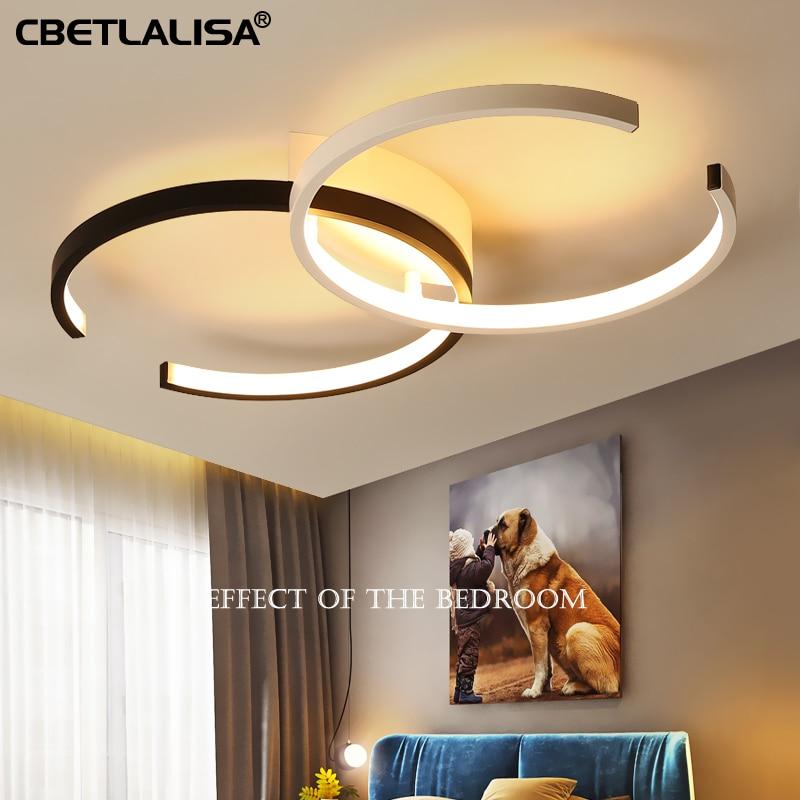 Lampe led lustre lustre pour salon, chambre, armoire de cuisine maison lustre xiaomi110-220B noir classique lustre
