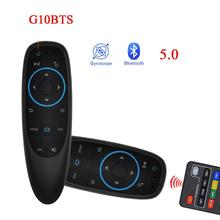 G10BTS Bluetooth 5.0 Air Mouse IR apprendimento giroscopio telecomando a infrarossi Wireless per Mi X96 h96 max Android TV Box VS g10