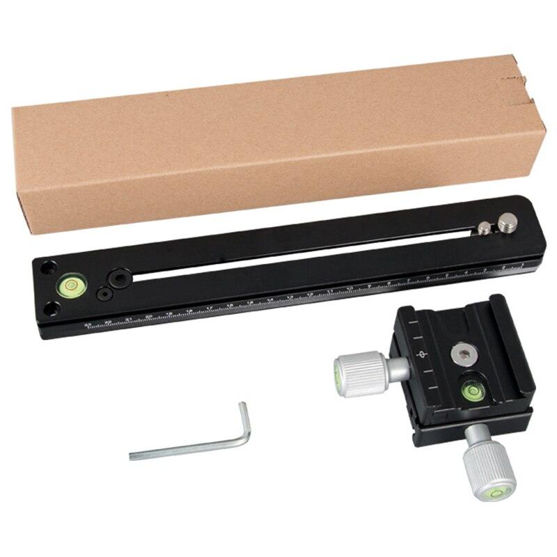 P200 panorámica Pan/Tilt Telephoto Clip de montaje conjunto de montaje de lente de telefoto soporte de placa de montaje rápido de la cámara