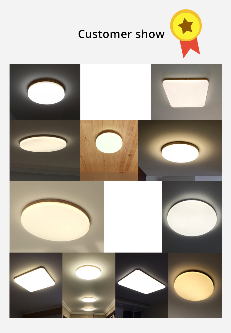 Madeira nordic led luzes de teto ultrafinos