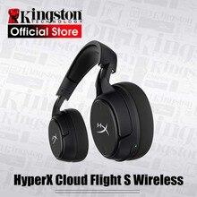 HyperX ענן טיסה S אלחוטי אוזניות משחקי 7.1 סראונד 2.4GHz אלחוטי אודיו HyperX NGENUITY תוכנת התאמה אישית