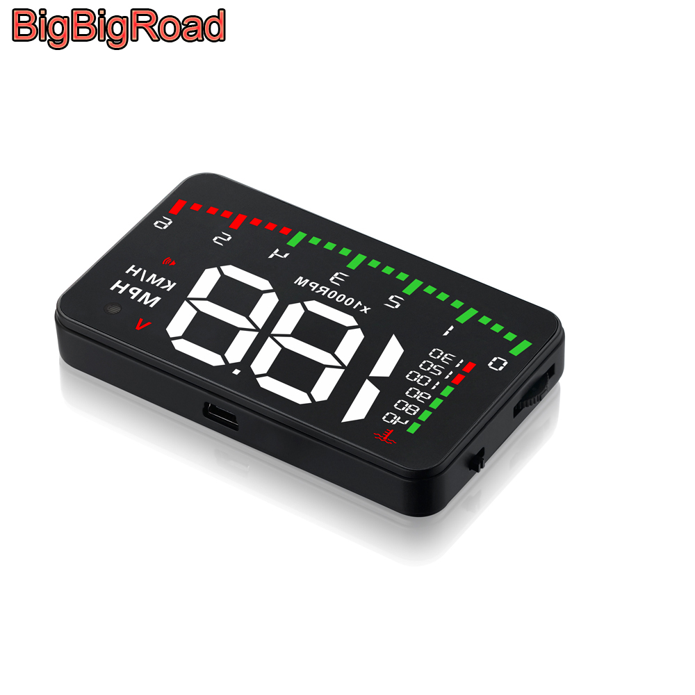BigBigRoad Car Hud Display Windshield Projector Overspeed Warning Auto Alarm System For Chery A1 A3 A5 E3 E5 QQ QQ3 Fulwin 2|Head-up Display| |  - title=