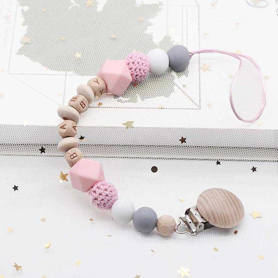 Newborn Gift Baby Gift Baby Shower Gifts Pacifier Clip Silicone Dummy Clip Personalised Dummy Clip