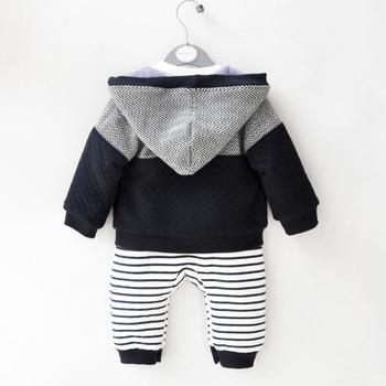 Mudkingdom Baby Boy Elephant Romper Cardigan strój ogólny garnitur gruby pasek z kapturem płaszcz odzież dla niemowląt tanie i dobre opinie COTTON W wieku 0-6m 7-12m 13-24m CN (pochodzenie) Mężczyzna Moda Zestawy Przycisk zadaszone Pełna REGULAR Pasuje prawda na wymiar weź swój normalny rozmiar