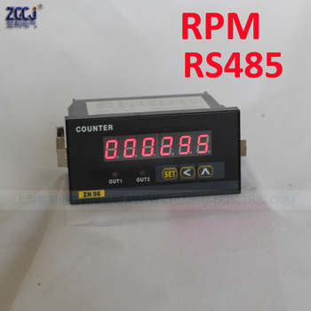 0-999999 smart digital tachometer rotate speed controller RPM meter Digital RPM indicator with RS485 communication function