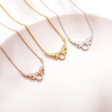 Krystal wings Pendants Necklace With Crown gold necklace Sweater Chain Jewelry Gift For Lovers bff