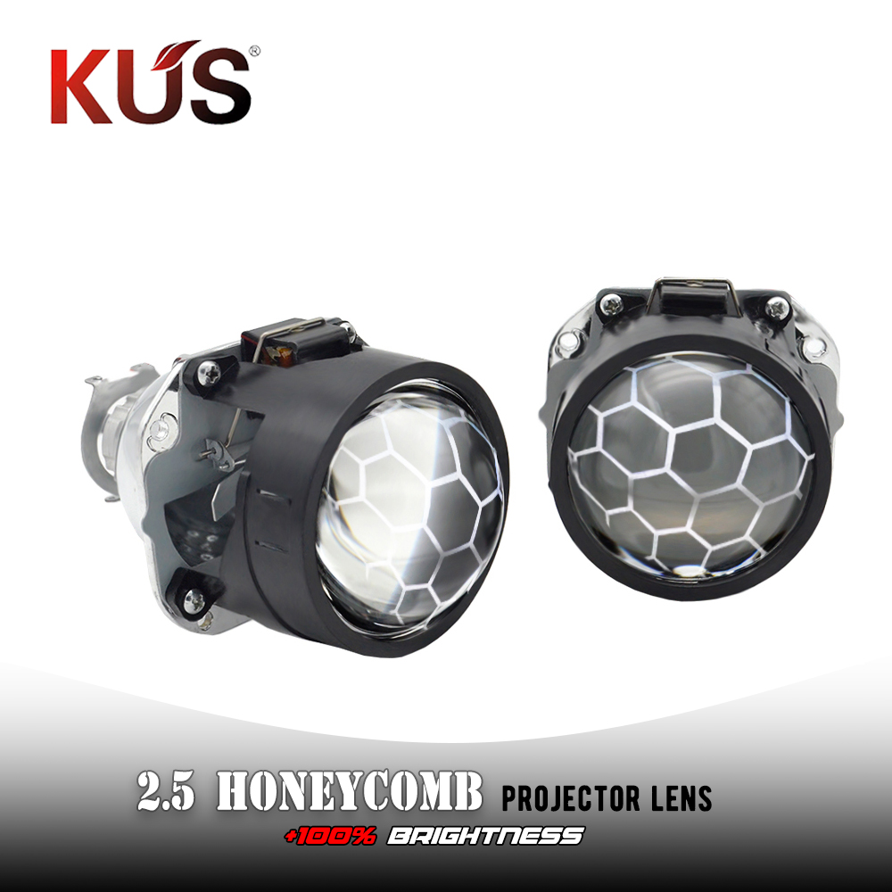 Xenon Projector Lens Headlamp Motorcycle-Assembly-Kit Car-Headlight Honeycomb Mini Bi title=