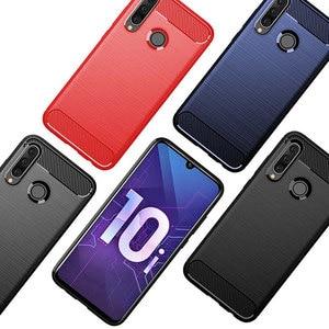 Image 5 - Pour Huawei Y6 2019 étui amortisseur Anti choc doux TPU silicone couverture en Fiber de carbone armure étui pour Huawei Y6 2019 Y6 Prime 2018 Pro