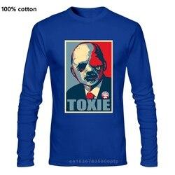 T-shirts Summer Fashion Street Long sleeve THE TOXIC AVENGER TOXIE FOR PRESIDENT CHRISSIC T Shirt fashion T-shirt men
