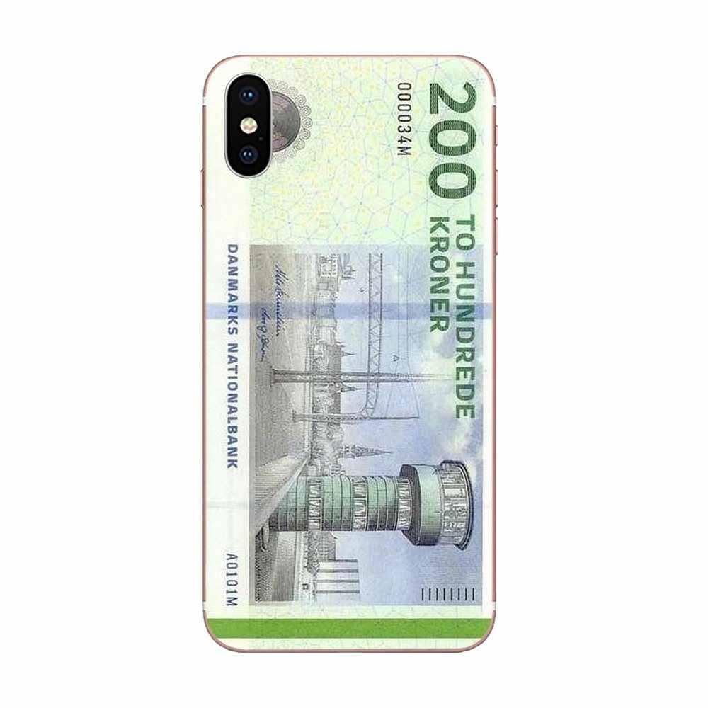 Dành cho Huawei Honor Mate 7 7A 8 9 10 20 V8 V9 V10 G Lite Chơi Mini Pro P Thông Minh cao su Mềm Mại Ốp Lưng Điện Thoại Danmark Đồng Krone Đan Mạch