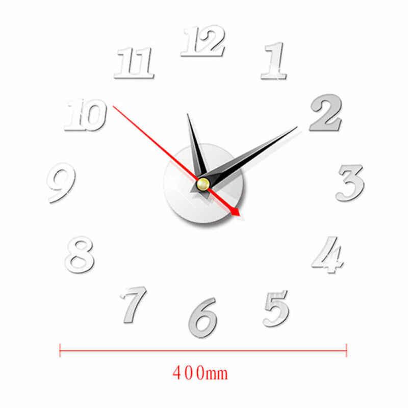 Faroot DIY 3D الرومانية أرقام ووتش ساعة حائط غرفة المعيشة المنزلي ديكور مرآة الحائط ملصقا الاكريليك مرآة ساعة حائط