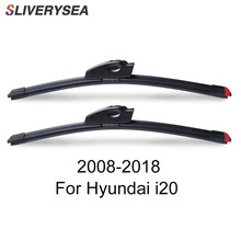 SLIVERYSEA Replace Wiper Blade For Hyundai i20 2008-2018 Windshield Windscreen Natural Rubber Replacement Wiper цена и фото