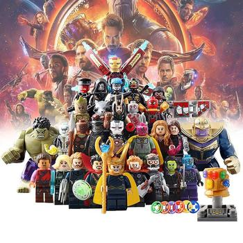 Marvel Avengers Thanos Iron Man Hulk Spiderman Batman Wolverine Building Blocks Movie Figures Super Heroes Toys for Children single sale modok george tarleton from hulk lab smash set building blocks super heroes bricks action toys for children kf918