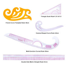 MIUSIE 5Pcs/set Cutting Ruler DIY Clothing Sample Grading Sewing Tailor Curve Cutting Rulers Plastic Patchwork Tool