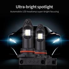 2Pcs Car LED Fog Lamp NEW K25 3 Colors H11 9005 9006 Lights 3-color switching White Yellow Blue 6500K 12V