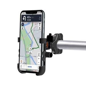 Image 4 - Vmonv Rorating אופנוע כידון טלפון מחזיק USB מהיר מטען 3.0 אופניים אחורית Stand עבור 4 6.5 אינץ טלפון נייד הר