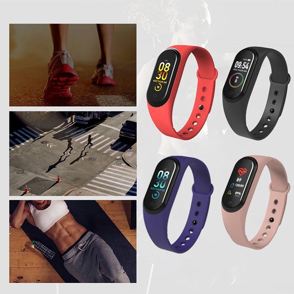 Waterproof Pedometer M4 Smart Bracelet Message Remind Health Monitoring Sport Wrist Band Wristband Watches
