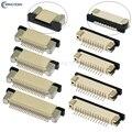 10 шт. FPC разъем 0,5 мм/1,0 мм Шаг выдвижного типа верхний/нижний контактный тип гнездо FFC плоский кабель гнездо 4P 5P 6P 8P 10P-60Pin