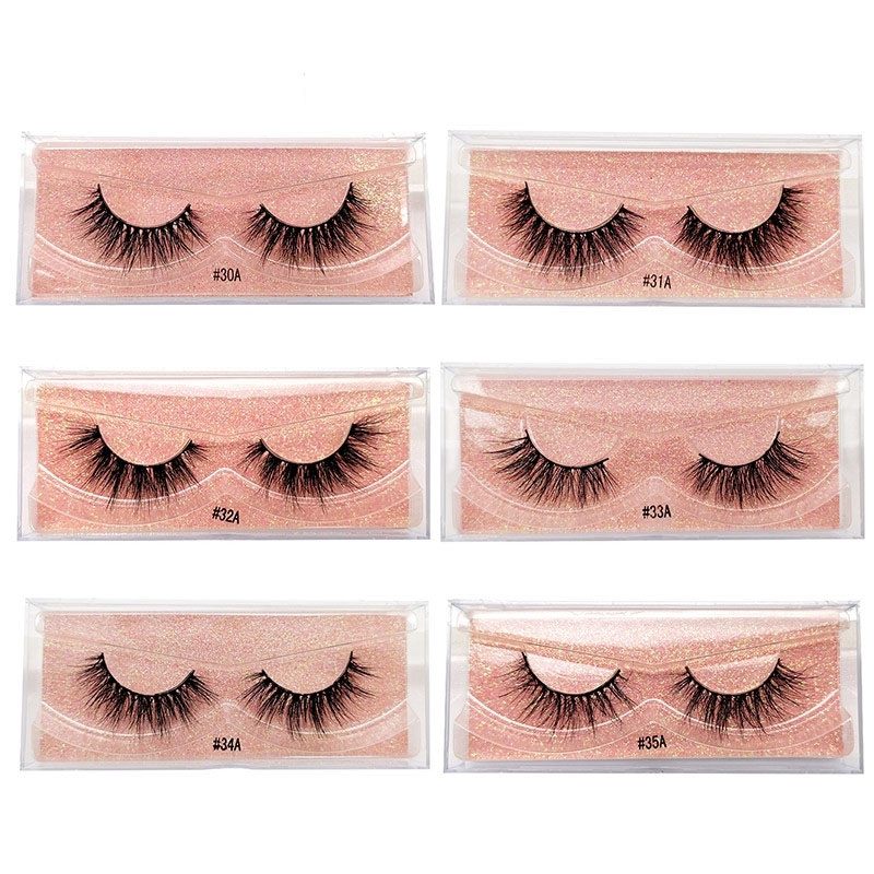 1 Pairs 3D Mink Hair False Eyelashes Women 6 Kinds Handmade Eyelashes Crisscross Full Strip Lashes Handmade Eyelashes
