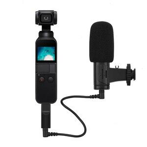 Image 4 - 3.5mm microfone microfone para dji osmo bolso/bolso 2 adaptador de áudio conector telefone montar titular desktop tripé para vlogging ao vivo