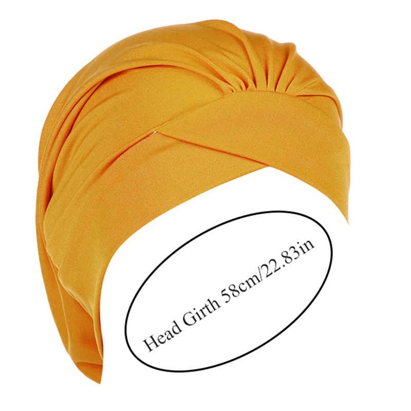Mode Moslim Hijab Hoofddoek Inner Hijab Caps Vrouwen Soft Cross Hoofdband Islamitische Tulband Hoed Headwrap Vrouwen Moslim Tulband Hijab