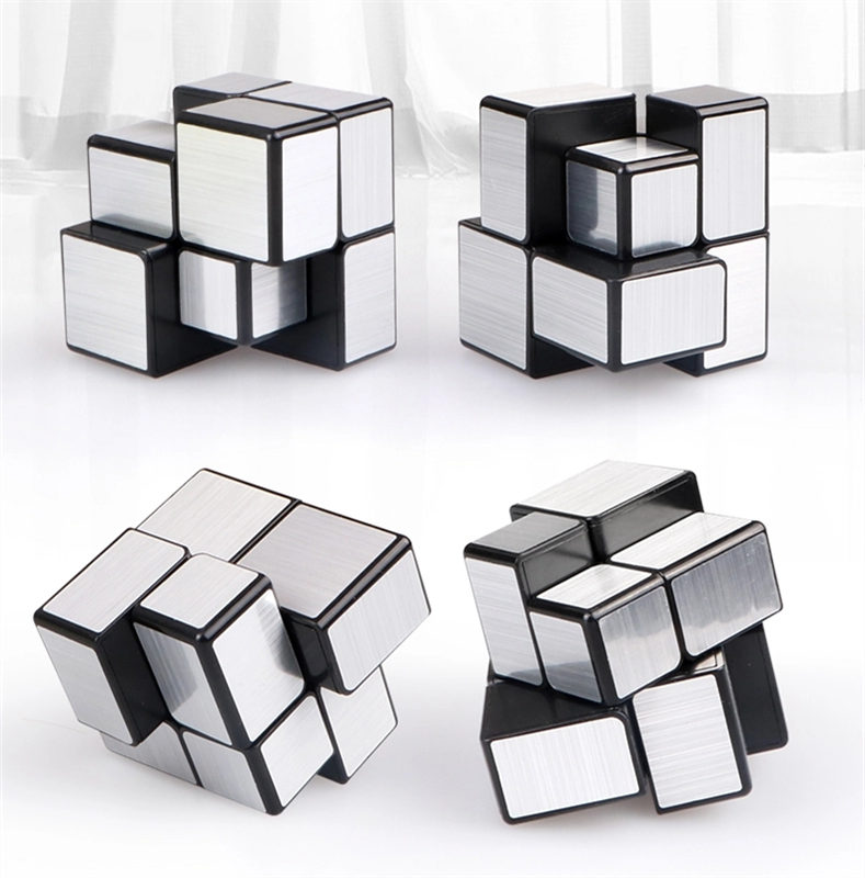 QiYi 2x2x2 Mirror Cube Magic Speed Cube Professional Stickers Puzzle Cube Educational Toys For Children
