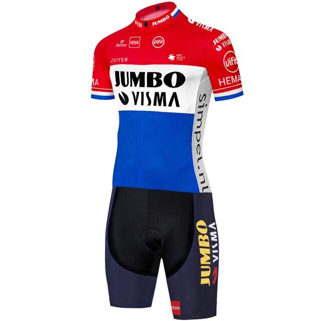 2020 equipe jumbo visma ciclismo skinsuit verão ao ar livre roupas de bicicleta triathlon uniforme 20d gel bodysuit 3