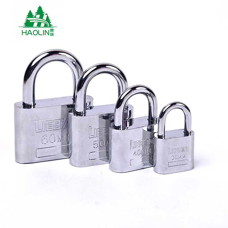[Manufacturers Direct Selling] Anti-Theft Locks Through Open Padlock Waterproof Circle Leaf Padlock Steering Lock 40 Mm
