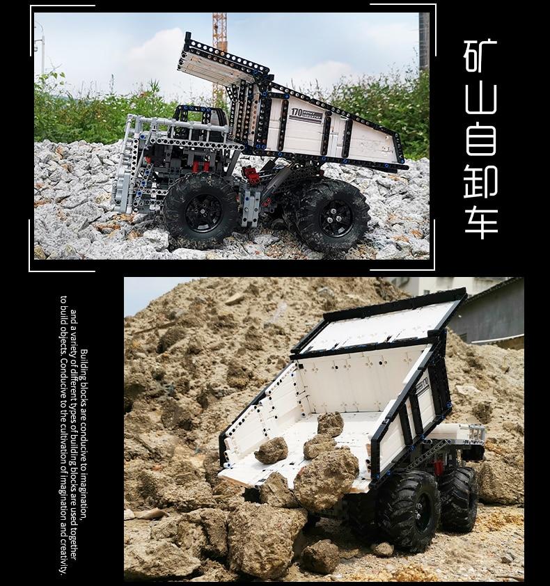 MOULD KING 13170 Compatible 29699 Technic Liebher Terex T284 Mining Excavator Dump Building Block (2044PCS) 13