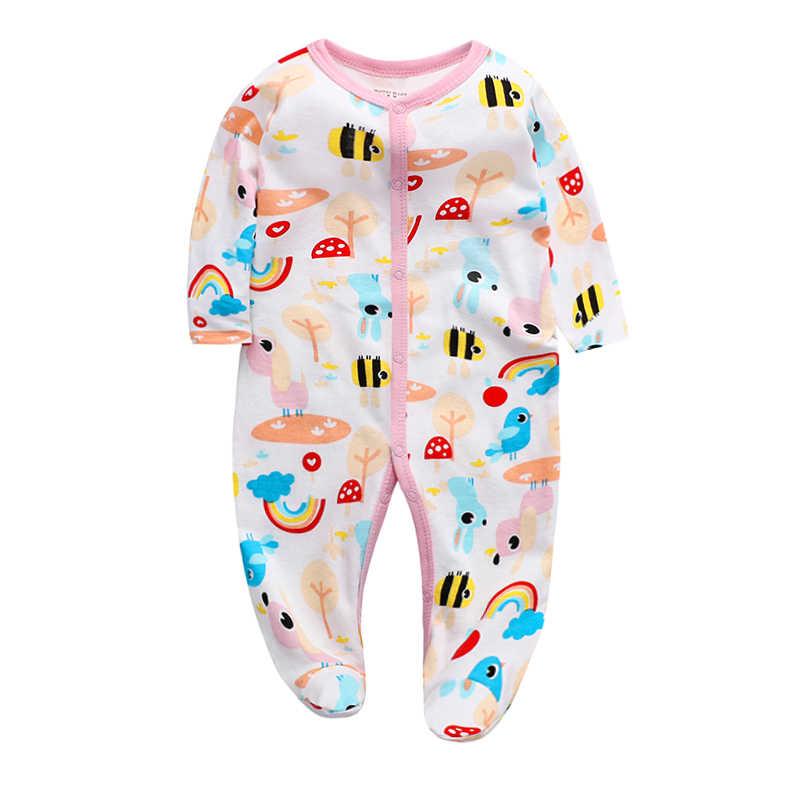 Ropa de bebé recién nacido Niño Infante romper sleep play fútbol manga larga 3 6 9 12 meses traje de algodón niños niñas Ropa